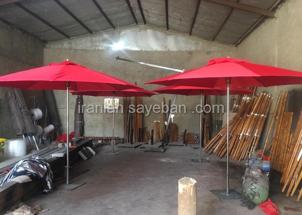 چتر سایبان پایه وسط در کارگاه (1)
