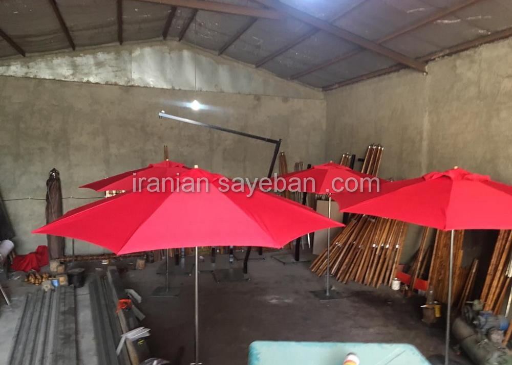 چتر سایبان پایه وسط در کارگاه (2)