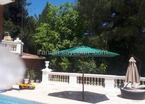 سایبان چتری پایه وسط چوبی (2)