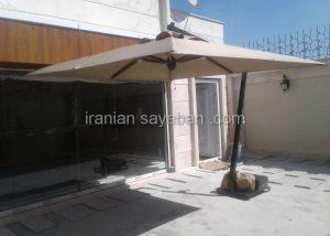 سایبان چتری پایه کنار فلزی (2)
