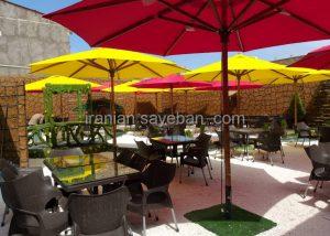 قیمت پروژه چتر سایبان پایه وسط فلزی رستوران مارینو کن سولقان (2)