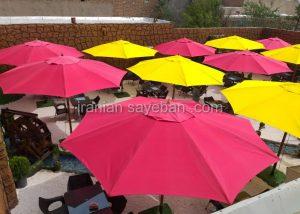 قیمت پروژه چتر سایبان پایه وسط فلزی رستوران مارینو کن سولقان