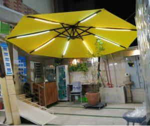 سایبان چتری چراغ دار